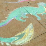 art club chalk art