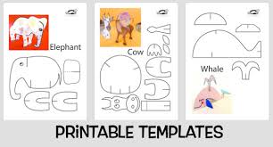 Photo of animal template parts
